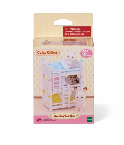 Calico Critters Triple Baby Bunk Beds Perspective: front