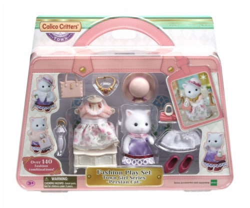 Calico Critters Fashion Perisian Cat Play Set Perspective: front