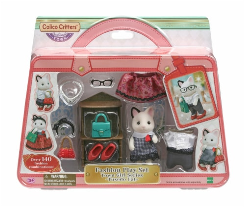 Calico Critters Tuxedo Cat Fashion Play Set Perspective: front