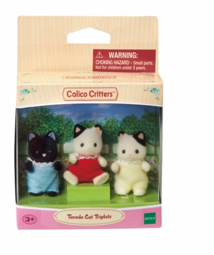 Calico Critters Tuxedo Cat Triplets Set Perspective: front