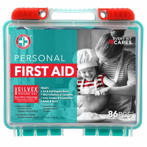 Be Smart Get Prepared First Aid Kit Perspective: front