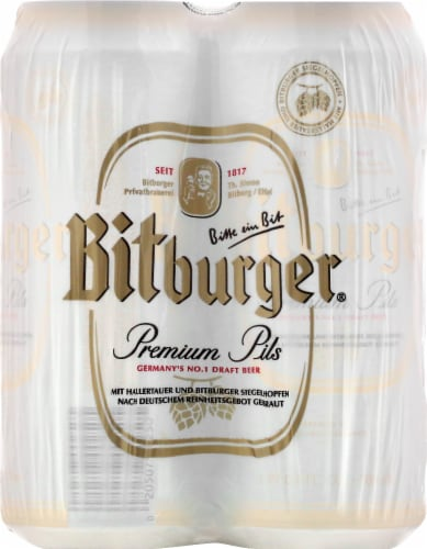 Bitburger Premium Beer Perspective: front