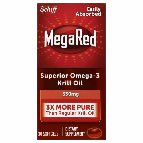 Schiff MegaRed Superior Omega-3 Krill Oil 300 mg Softgels Perspective: front
