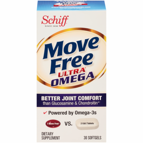 Schiff Move Free Ultra Omega Joint Health Softgels Perspective: front