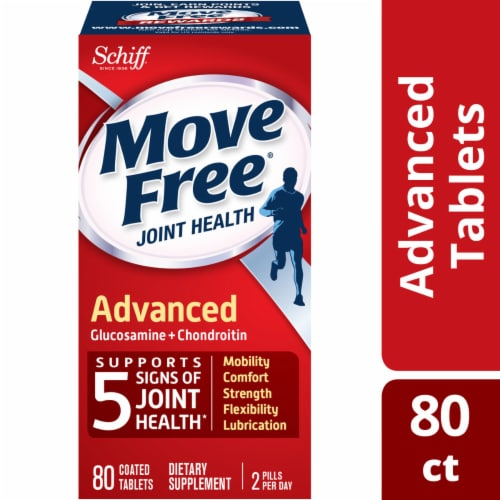 Move Free Advanced Glucosamine Chondroitin Joint Supplement Tablets Perspective: front