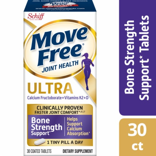 Move Free Joint Health Ultra Bone Strength Supplement Tablets Perspective: front
