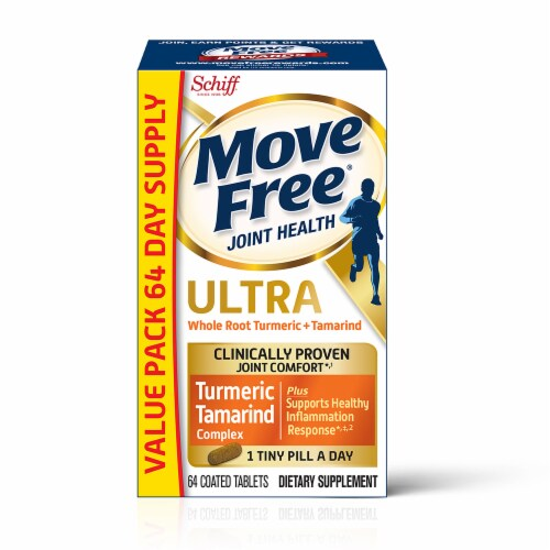 Move Free Ultra Turmeric + Tamarind Coated Tablets Perspective: front