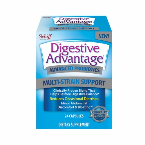 Digestive Advantage Advanced Multi-Strain Support Probiotic Capsules 24 Count Perspective: front