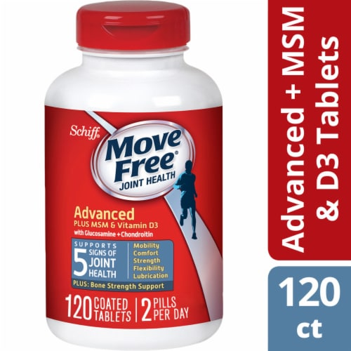 Schiff® Move Free® Advanced + MSM & D3 Joint Health Tablets Perspective: front