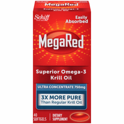 Schiff MegaRed Superior Omega-3 Krill Oil Ultra Concentrate Softgels 750mg Perspective: front