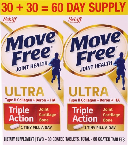 Schiff Move Free Ultra Joint Health Triple Action Coated Tablets Perspective: front
