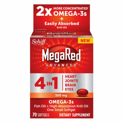 Schiff MegaRed 4 in 1 Omega-3s Value Pack Softgels 500mg Perspective: front