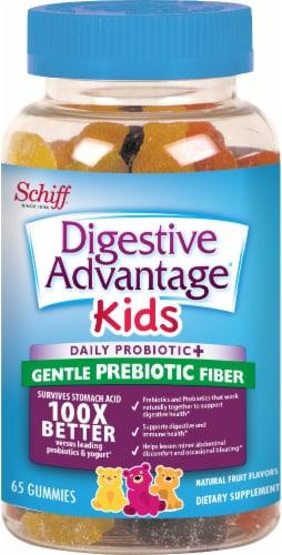 Digestive Advantage KIDS Prebiotic Fiber + Probiotic Digestive Health Gummies 65 Count Perspective: front
