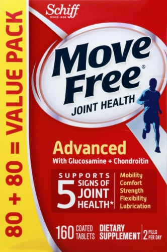Move Free Advanced Joint Health Coated Tablets Perspective: front