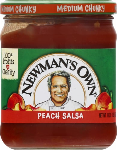 Newman's Own Medium Chunky Peach Salsa Perspective: front