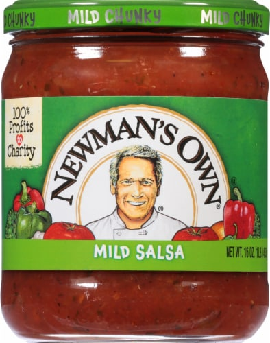 Newman's Own Mild Chunky Salsa Perspective: front