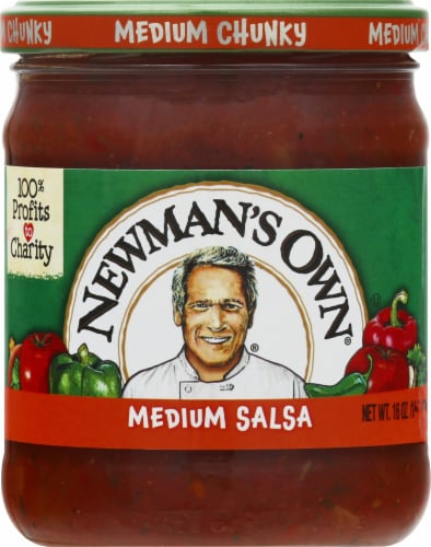 Newman's Own Medium Chunky Salsa Perspective: front