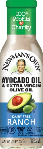 Newman's Own Avocado Oil & Extra Virgin Olive Oil Dairy Free Ranch Salad Dressing Perspective: front