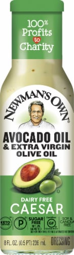Newman's Own Dairy-Free Avocado Oil & Extra Virgin Olive Oil Caesar Dressing Perspective: front