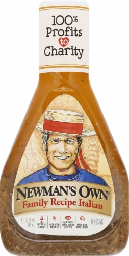 Newman's Own Family Recipe Italian Dressing Perspective: front