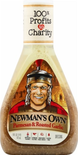 Newman's Own Parmesan & Roasted Garlic Dressing Perspective: front