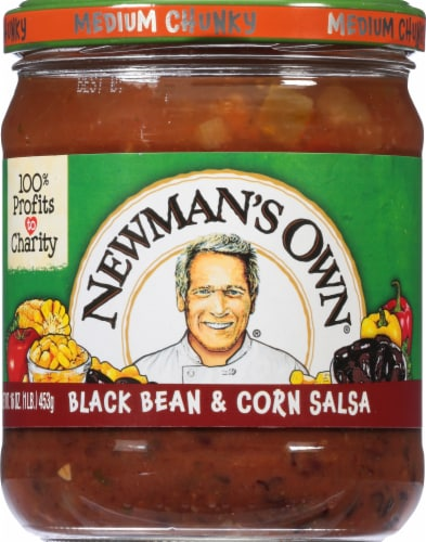 Newman's Own Black Bean & Corn Salsa Perspective: front