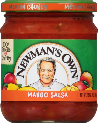 Newman's Own Medium Chunky Mango Salsa Perspective: front