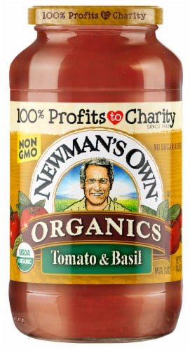 Newman's Own Organics Tomato & Basil Pasta Sauce Perspective: front