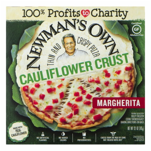 Newman's Own Thin and Crispy Cauliflower Crust Margherita Pizza Perspective: front