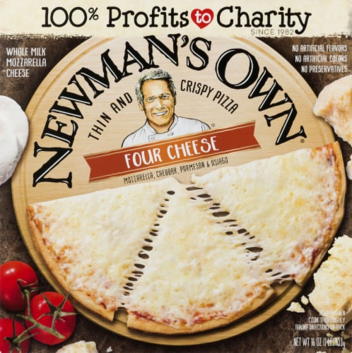 Newman's Own Four Cheese Thin & Crispy Pizza Perspective: front