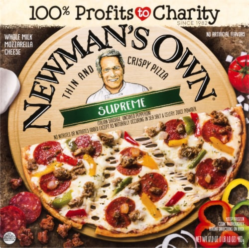 Newman's Own Thin and Crispy Supreme Pizza Perspective: front