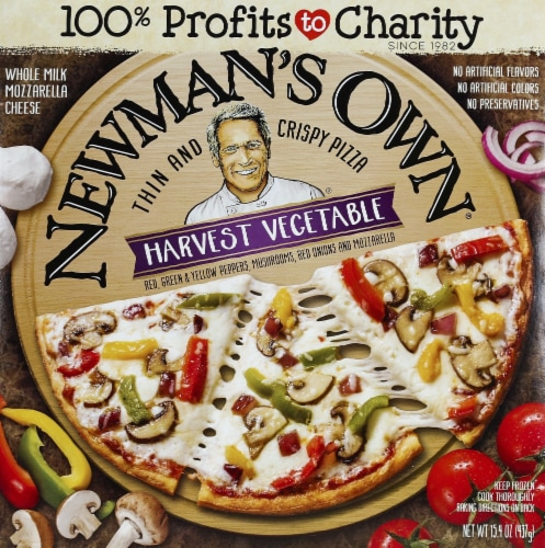 Newman's Own Thins and Crispy Harvest Vegetable Pizza Perspective: front