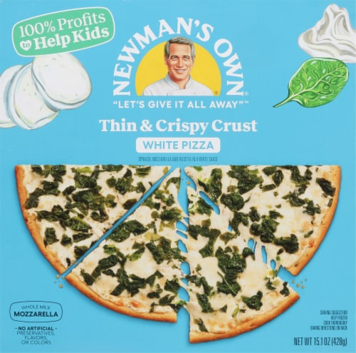 Newman's Own White Thin & Crispy Pizza Perspective: front