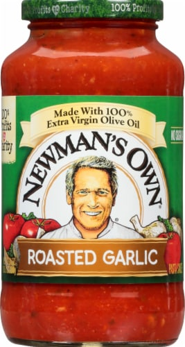 Newman's Own Roasted Garlic Pasta Sauce Perspective: front