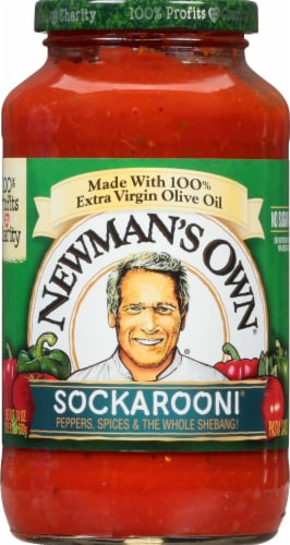 Newman's Own Sockarooni Pasta Sauce Perspective: front