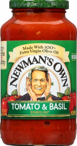 Newman's Own Tomato & Basil Bombolina Pasta Sauce Perspective: front