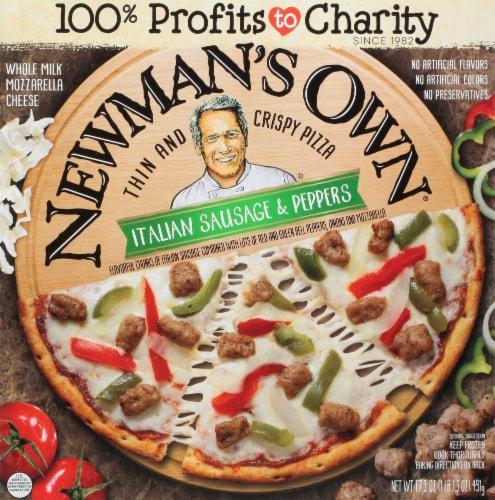 Newman's Own Thin & Crispy Italian Sausage & Peppers Pizza Perspective: front