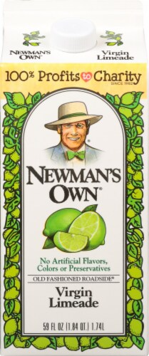 Newman's Own All Natural Virgin Limeade Perspective: front