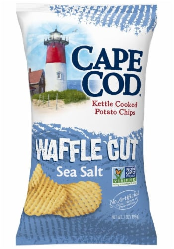 Cape Cod Sea Salt Waffle Cut Kettle Cooked Potato Chips Perspective: front