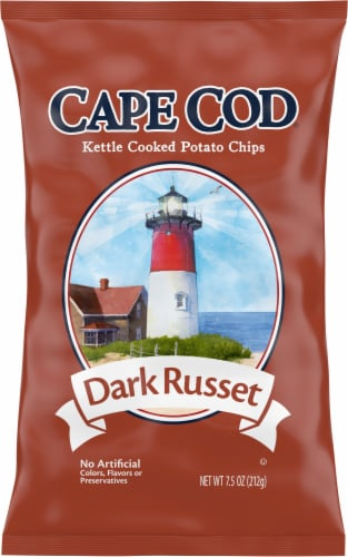 Cape Cod Dark Russet Kettle Cooked Potato Chips Perspective: front