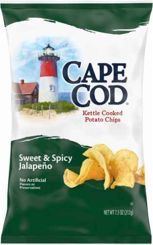 Cape Cod® Sweet & Spicy Jalapeno Kettle Chips Perspective: front