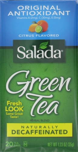 Salada Decaffeinated Green Tea Perspective: front
