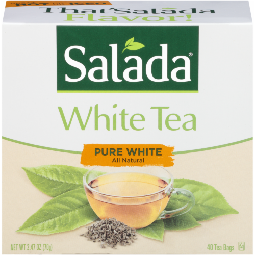 Salada All Natural Pure White Tea Bags Perspective: front