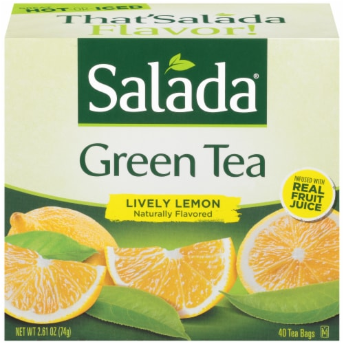 Salada Lively Lemon Green Tea Perspective: front