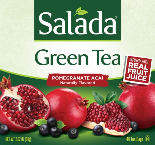 Salada Pomegranate Acai Green Tea Perspective: front