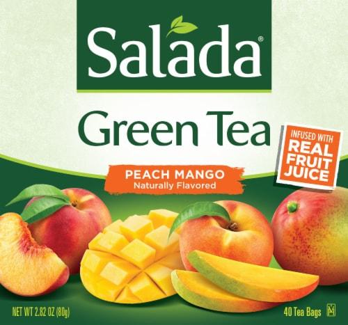 Salada Peach Mango Green Tea Perspective: front