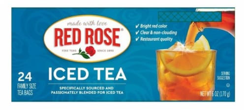 Red Rose Iced Tea Tea Bags Perspective: front