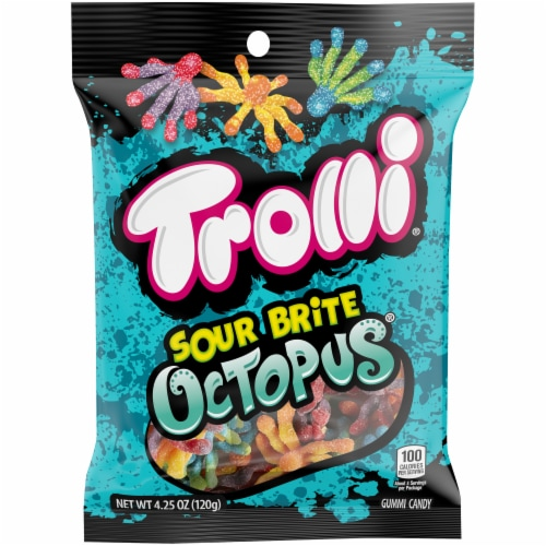 Trolli Sour Brite Octopus Gummi Candy Perspective: front