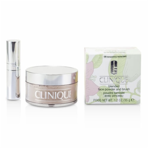 Clinique Blended Face Powder + Brush  No. 08 Transparency Neutral 35g/1.2oz Perspective: front
