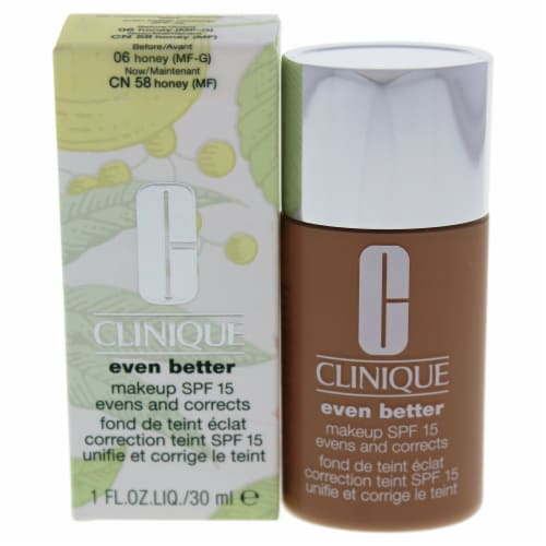 Clinique Even Better Makeup SPF 15  06 Honey MFG  Dry To Combination Oily Skin Foundation 1 o Perspective: front